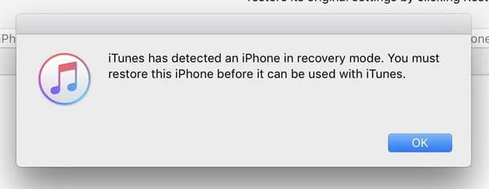 recovery mode iphone ipad itunes