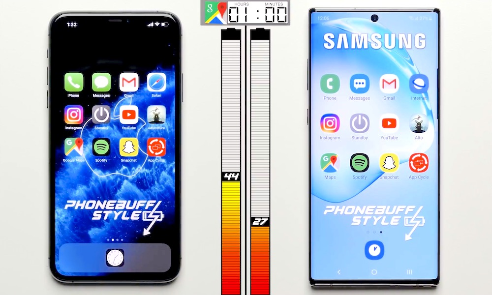 iPhone 11 Pro Max Destroys Galaxy Note 10+ in Real-World Battery Test