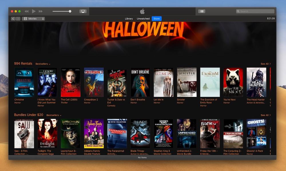 Apple Halloween Horror Movie Sale: $20 (Or Less) Bundles, $1 Rentals