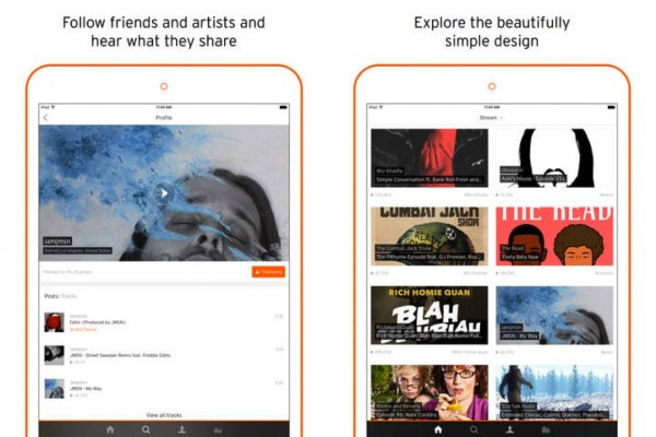 SoundCloud's iPad gets an extreme makeover, kills audio recording