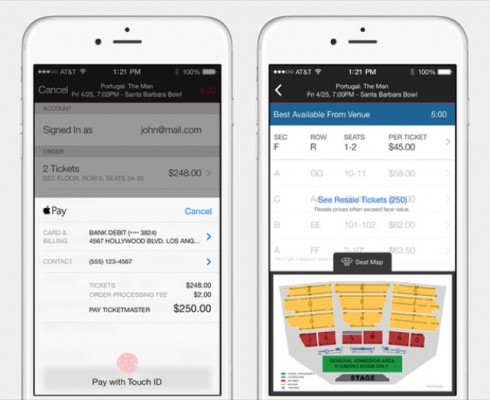 Ticketmaster joins Apple Pay party with updated iOS app