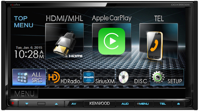CES 2015: Kenwood aftermarket CarPlay display; VW cars get CarPlay in 2015