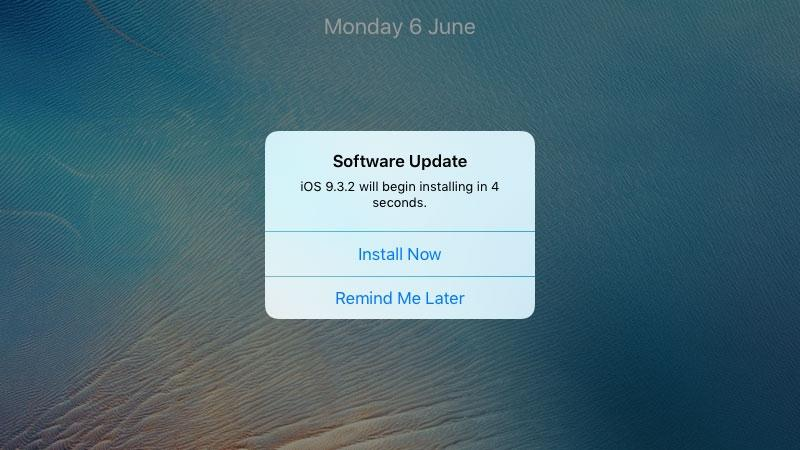 Stop iOS nagging you to update