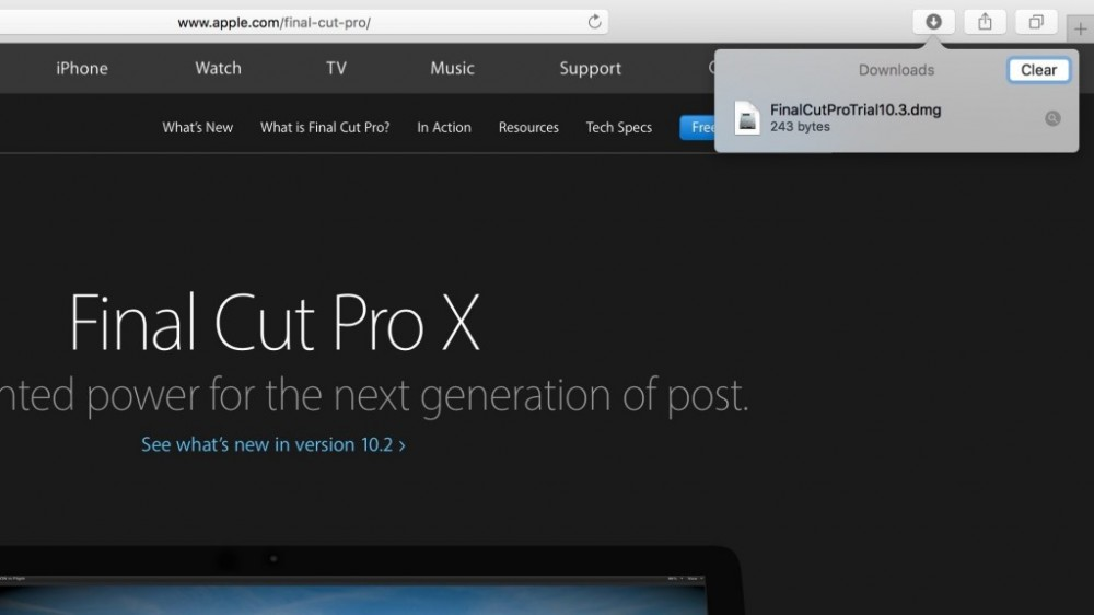 Final Cut Pro X trial page download link alludes to impending 10.3 update ahead of Mac event
