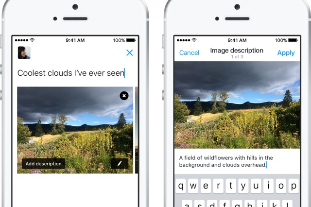 You can now add a description to your Twitter pics to help the visually impaired 'see'