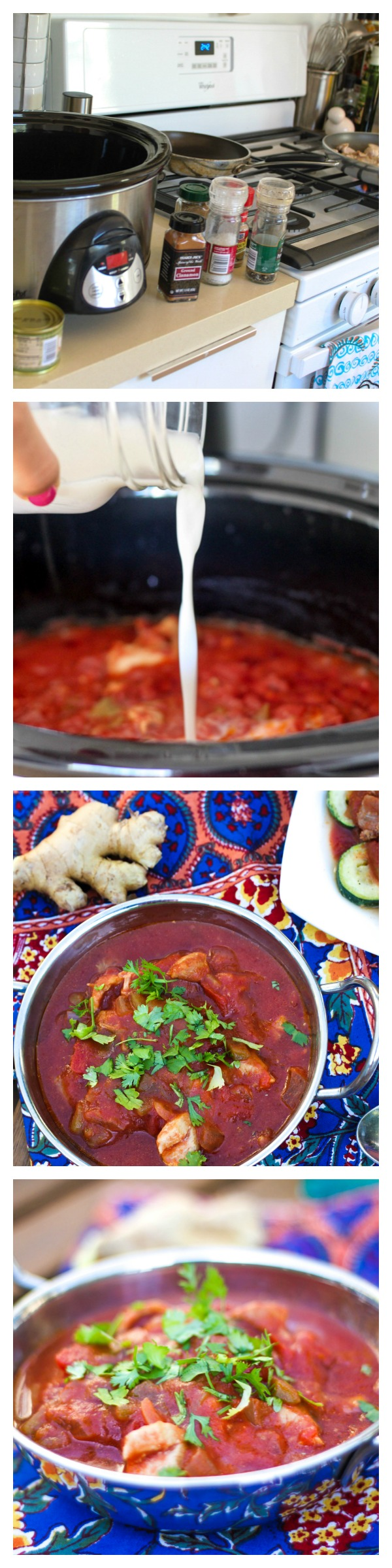Slow cooker butter chicken (and vegan option!)